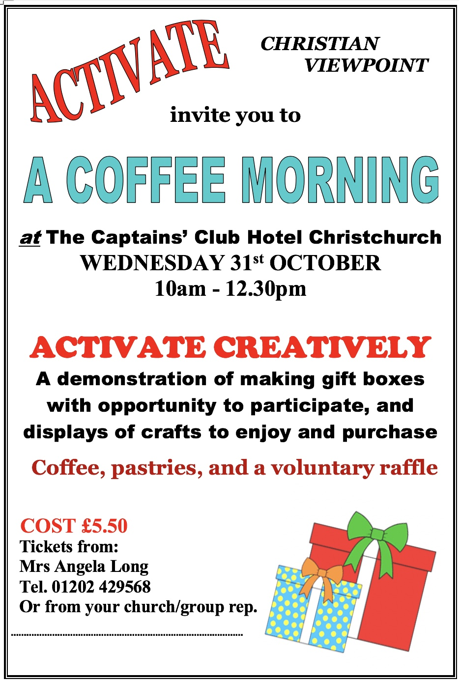 Activate Coffee Morning October 2018